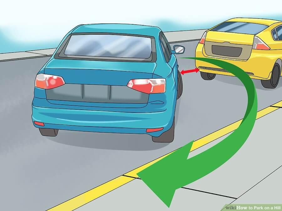 پارک کردن خودرو در سطح شیبدار چگونه است